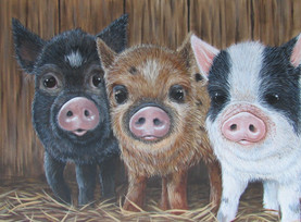 SOLD - Three Little Pigs