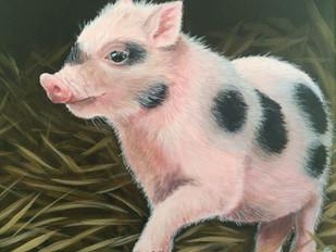 "SOLD -""Precocious Piglet"""