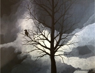 Moonlit Raven