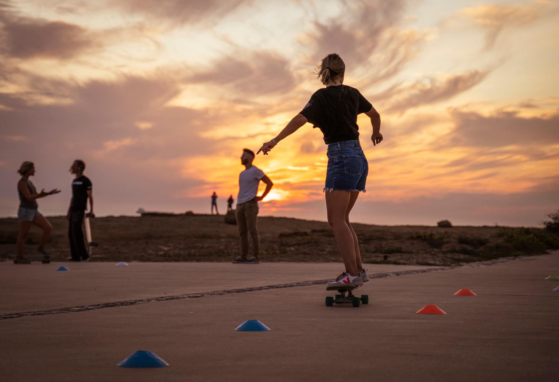 Concrete surfers surf skate school train
