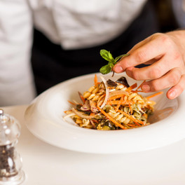 Abu Dhabi Food Photographers - Chef Garnishing