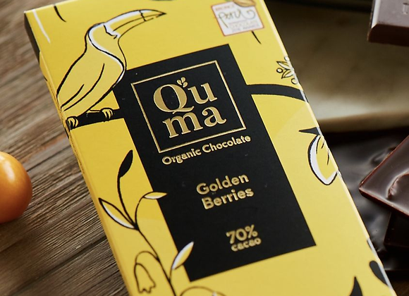 Chocolat noir 70% au physalis