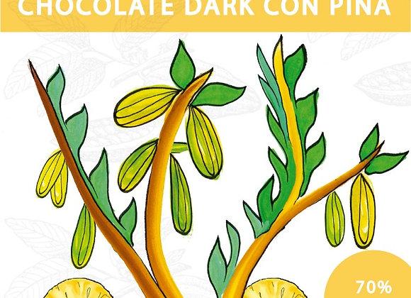 Chocolat Noir 70% à l'Ananas
