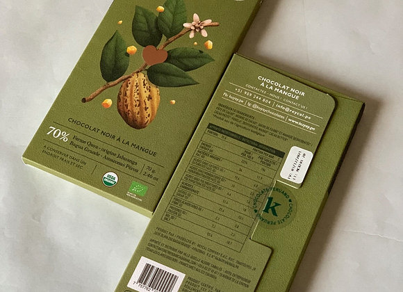 Chocolat Noir 70% à la Mangue
