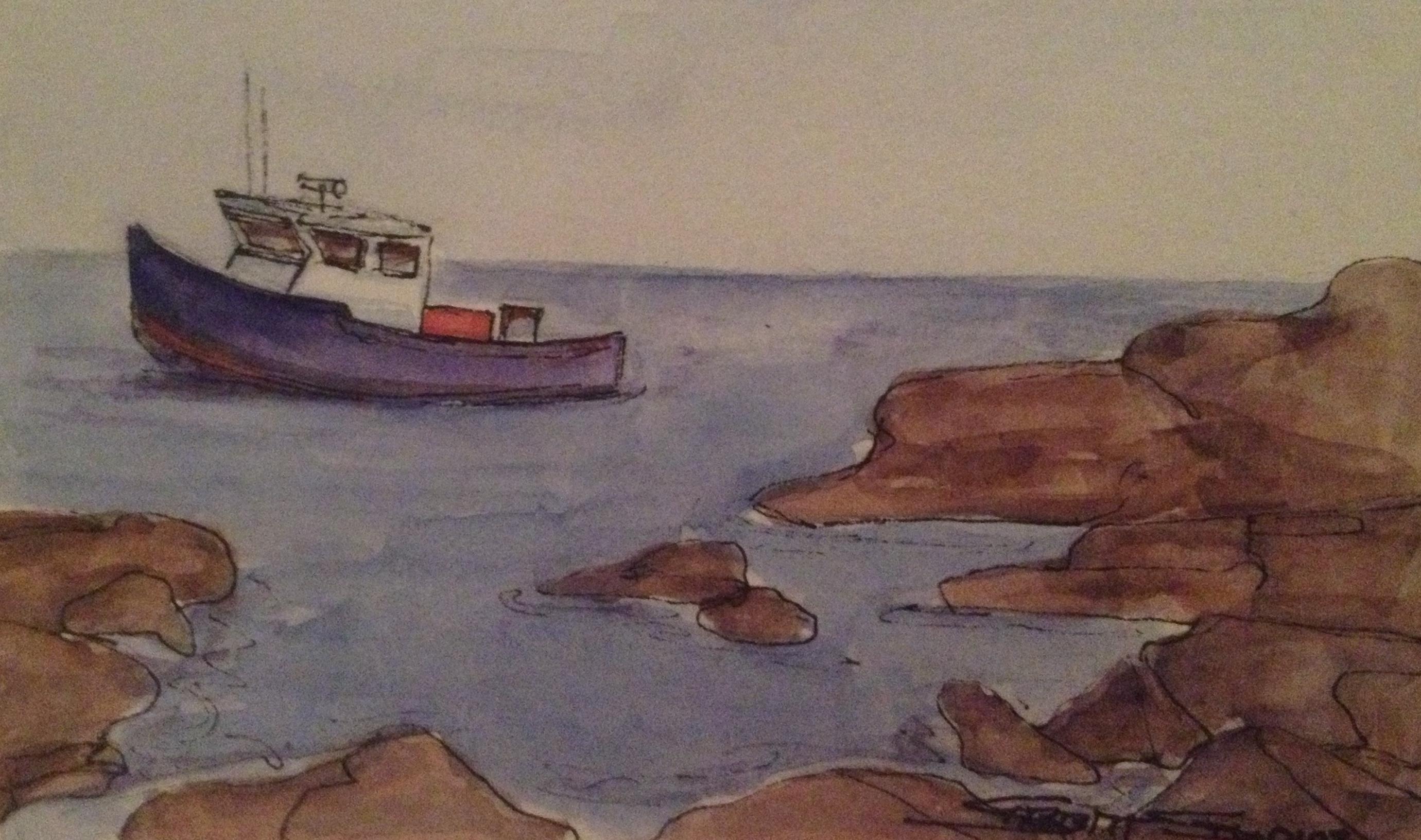 Cove Fishing Boat