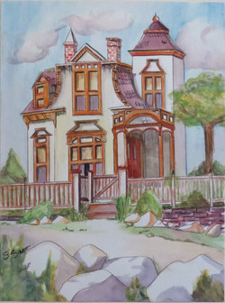 SOLD 1st Watercolour Ink House