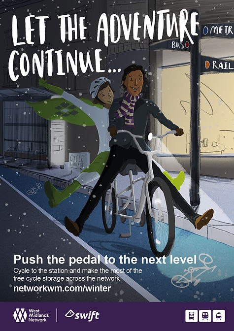 Winter ticketing campaign_Posters_cycle.