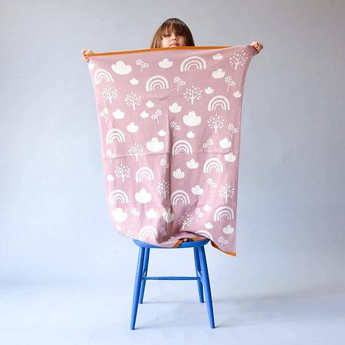 Pink Rainbows Baby Blanket