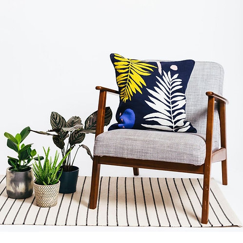 Botanical Cushion Blue