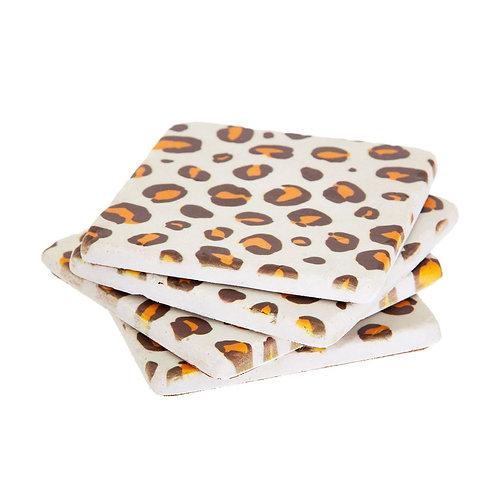 Leopard Print Coasters Set Of 4