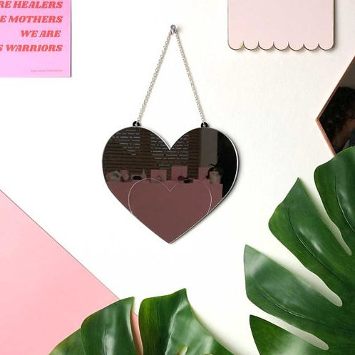 Love Heart Acrylic Mirror