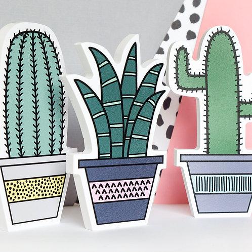 Freestanding Succulent. Cactus Shelfie. Desk accessory. Cactus decor. Faux Plant