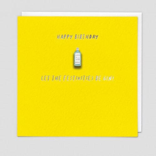 Be Gin Enamel Pin Card