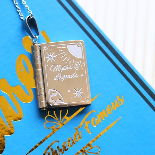 Myths And Legends Moving Book Necklace