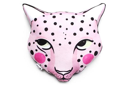 Leopard cushion softie plush- Pink