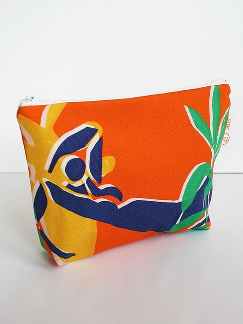 Eden Orange Make Up Bag