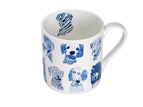 Blue Dogs Bone China Mug