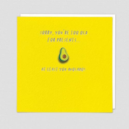 Avocado Enamel Pin Card