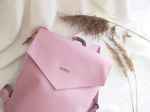 Zoe&Co Vegan Leather Backpack- Desert Rose
