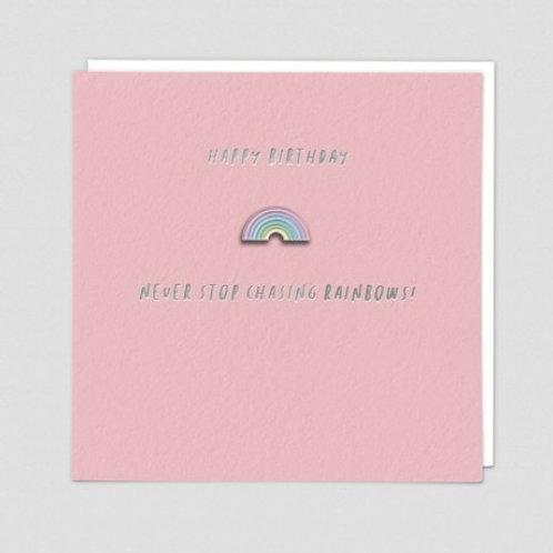 Chasing Rainbows Enamel Pin Card