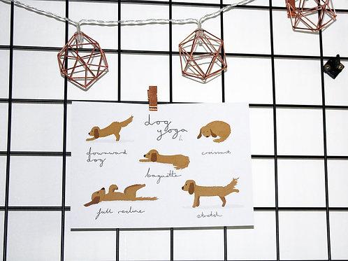 Dog Yoga Print