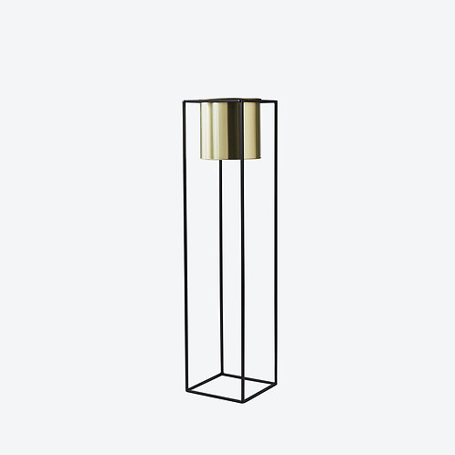 Large Gold and Black Plant Stand