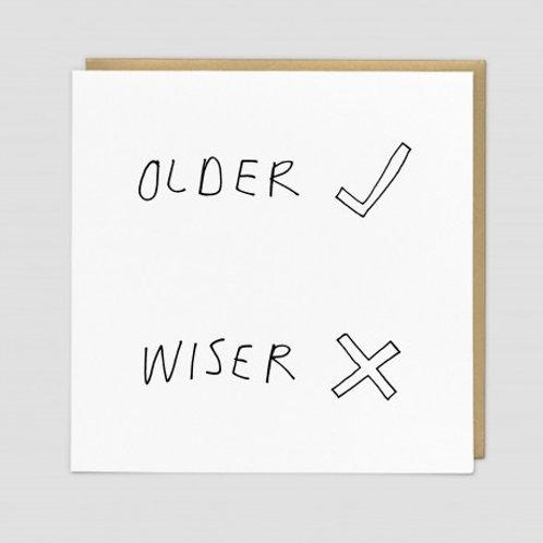 Older X Wiser Card