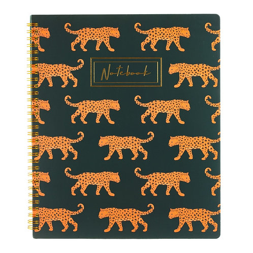 Leopard Repeat Notebook A4 Lined