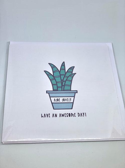 Aloe Lovely Card