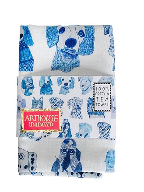 Blue Dogs 100% Cotton Teatowel