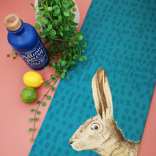 Mr Hare Tea Towel