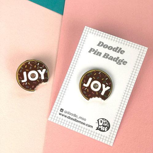 Joy Doodle Pin Badge