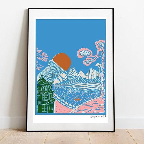 A3 Print- Rising Sun