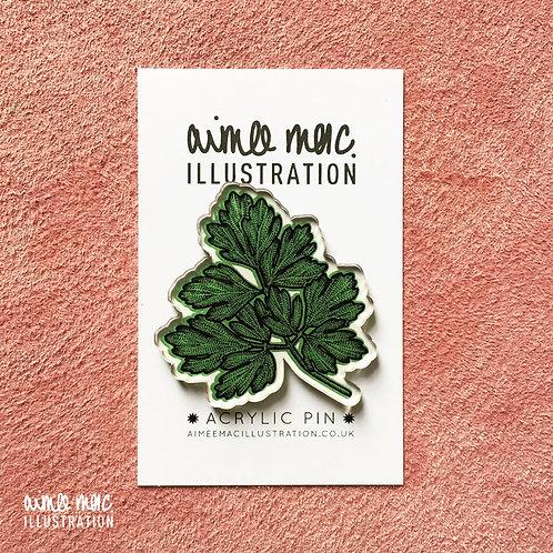 Parsley Plant Pin Badge