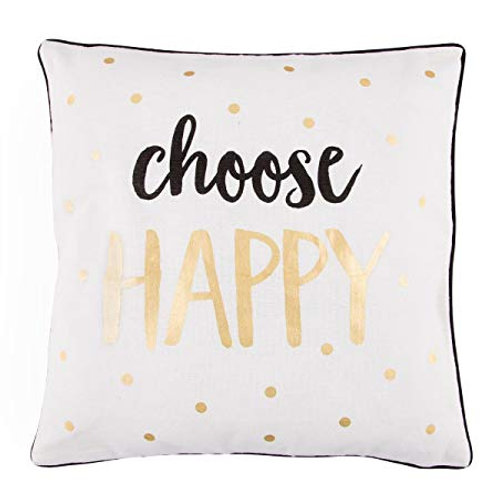 Choose Happy Mono Cushion