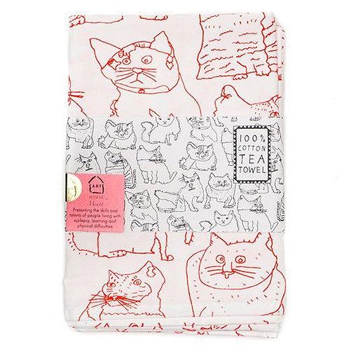 Cats 100% Cotton Tea Towel