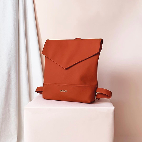 Zoe&Co Vegan Leather Backpack- Nectarine
