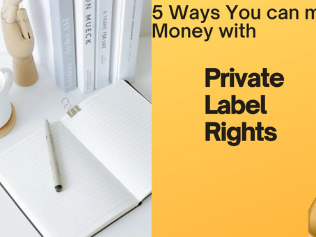 5 Ways You Can Make Money With Private Label Rights