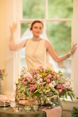 Bride with Centerpeice