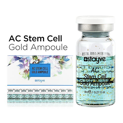 Stayve AC Stem Cell Gold Ampül Akne Giderici TEKLİ FLAKON 8 ML