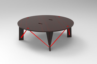 TABLE BASSE DEMONTABLE