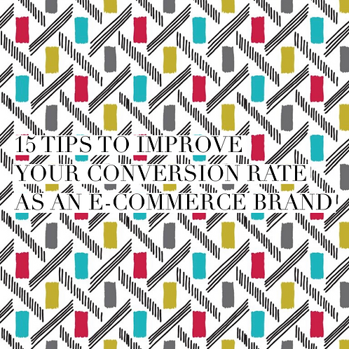 15 ways to improve your conversion rate