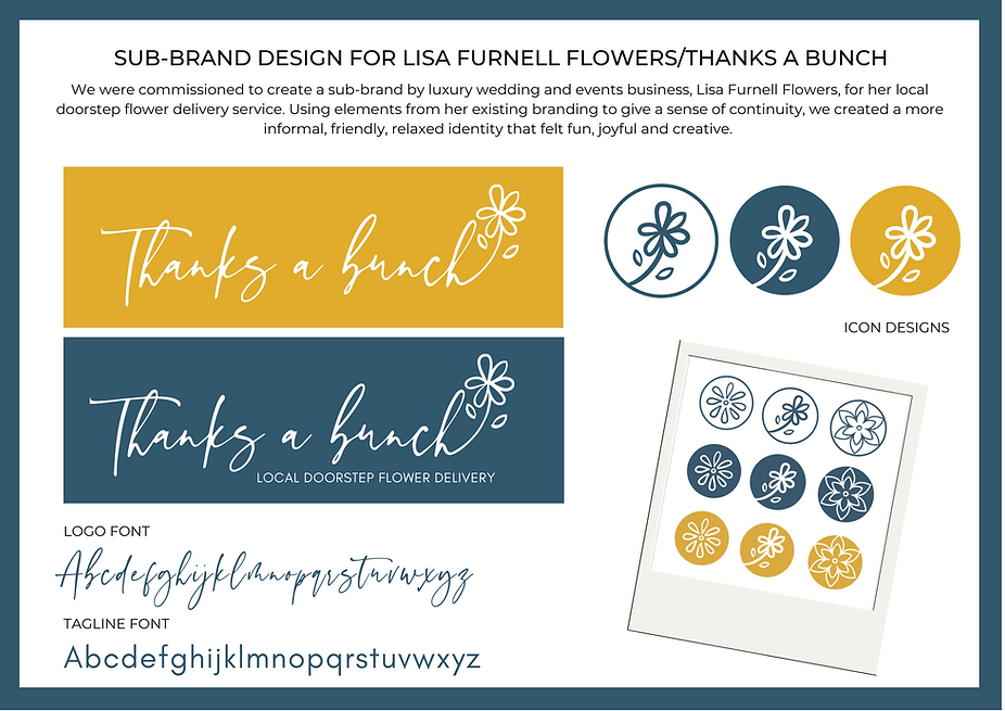 SUB-BRAND DESIGN FOR LISA FURNELL FLOWER