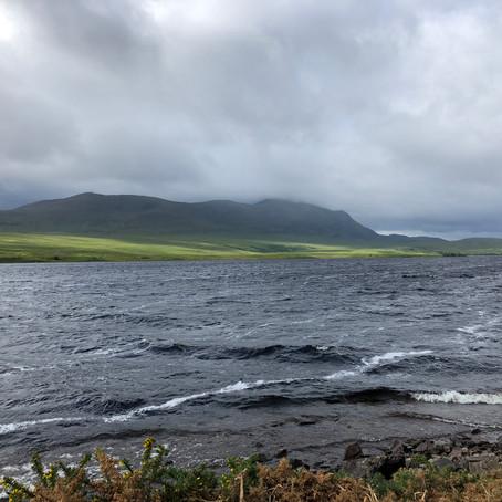 Riding through the storm. (2018, Land's End to John O Groats)