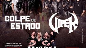 VIPER e GOLPE DE ESTADO revivem show histórico no Carioca Club em dezembro