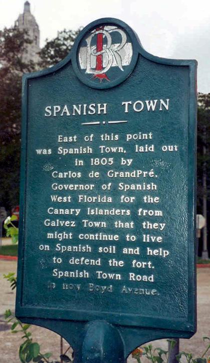 Spanish Town Marker