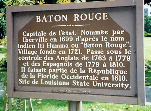 Baton Rouge Marker