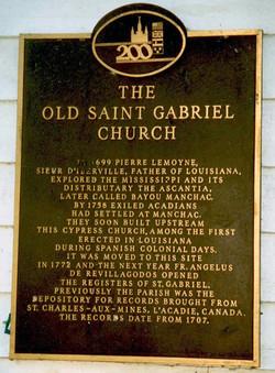 St Gabriel Church Marker