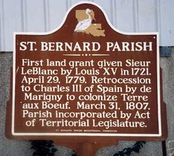 St Bernard Parish Marker
