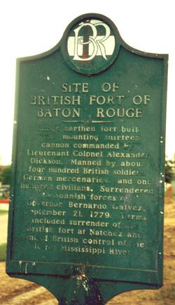 British Fort Marker